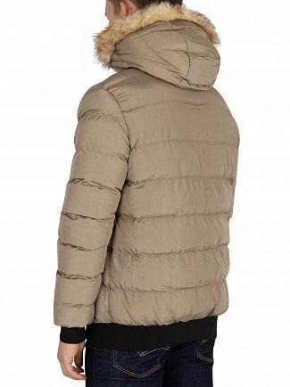 Sik Silk Beige Parachute Jacket