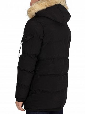 Sik Silk Black Puffa Parka Jacket