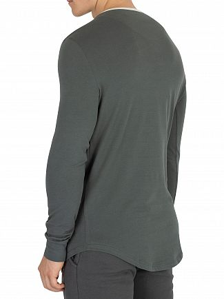 Sik Silk Urban Green Ringer Gym Longsleeved T-Shirt