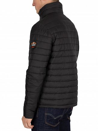 Superdry Black Double Zip Fuji Jacket