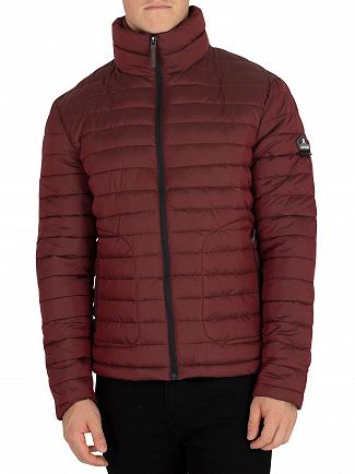 Superdry Dark Red Double Zip Fuji Jacket