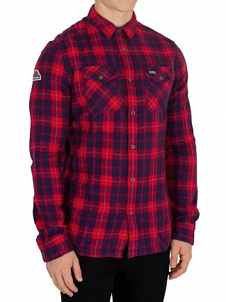 Superdry Broken Twill Navy Rookie Ridge Shirt