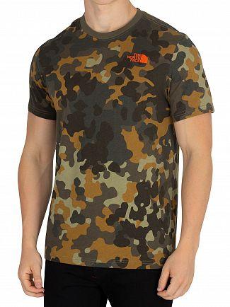 The North Face Macrofleck Print Red Box T-Shirt