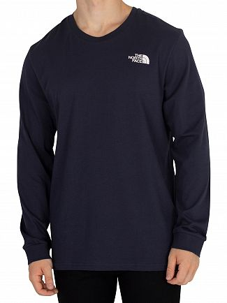 The North Face Urban Navy Simple Dome Longsleeved T-Shirt