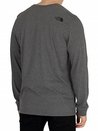 The North Face Medium Grey Simple Dome Longsleeved T-Shirt