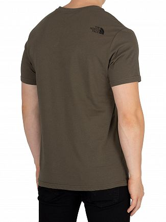 The North Face Green/Black Simple Dome T-Shirt
