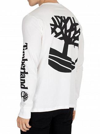 Timberland White Longsleeved Seasonal T-Shirt