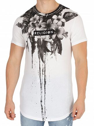 Religion White Fine Art Curve Hem T-Shirt
