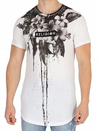 Religion White Fine Art Curve Hem T-Shirt