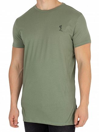 Religion Army Green Mission Block T-Shirt