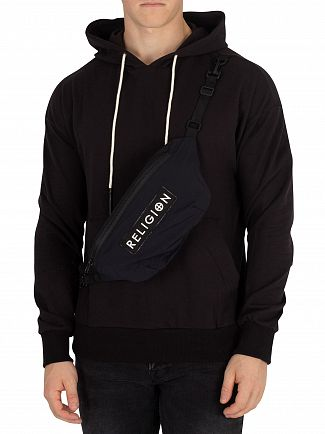 Religion Black Pouch Pullover Hoodie