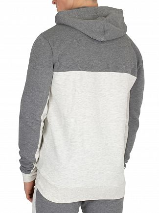 11 Degrees Charcoal/Snow Marl Block Pullover Hoodie