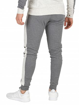 11 Degrees Charcoal/Snow Marl Block Skinny Joggers