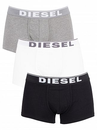 Diesel Black/White/Grey 3 Pack Trunks