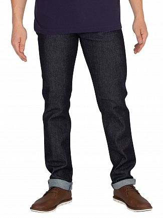 Edwin Blue Denim Rinsed ED-80 CS Slim Tapered Jeans