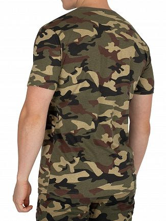 Ellesse Camo Print Canaletto T-Shirt