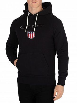 Gant Black Shield Pullover Hoodie