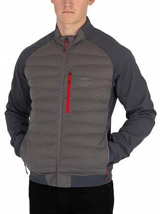 Hackett London Charcoal Aston Martin Racing Hybrid Jacket