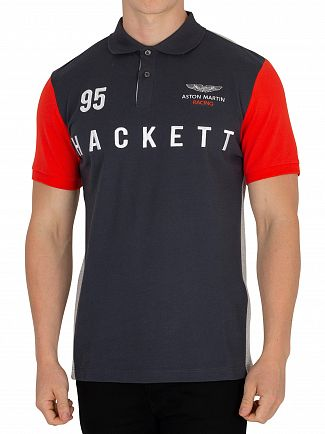Hackett London Dark Grey Aston Martin Racing Poloshirt