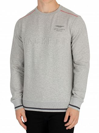 Hackett London Pearl Grey Aston Martin Racing Sweatshirt