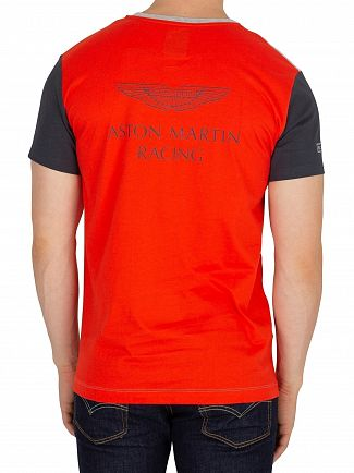 Hackett London Grey/Red Aston Martin Racing T-Shirt