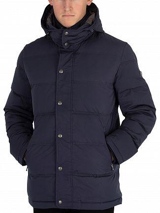 Hackett London Navy Classic Down Jacket