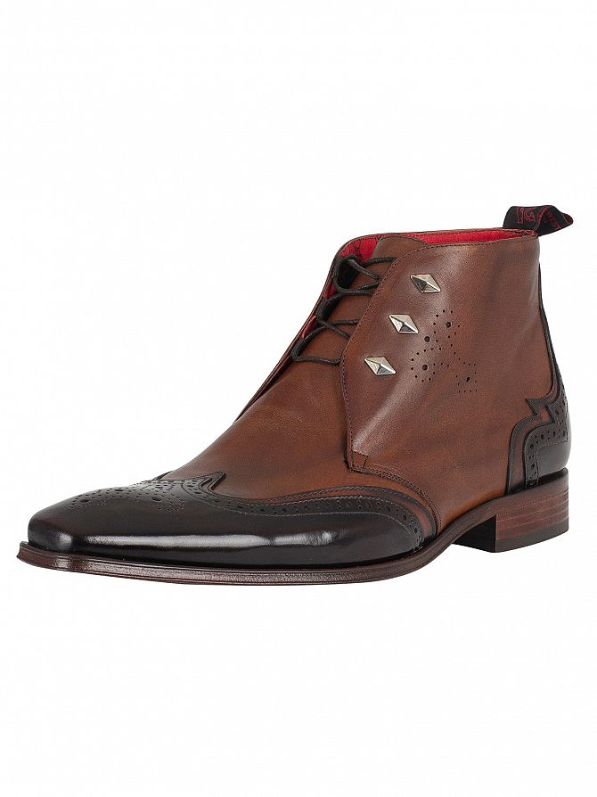 Jeffery West Brown Mix/Polish Leather Lace Up Scarface Boots