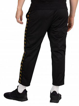 Kappa Black/Gold Adern Cropped Joggers