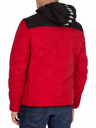 Kappa Red/Black/White Amarit Puffa Jacket