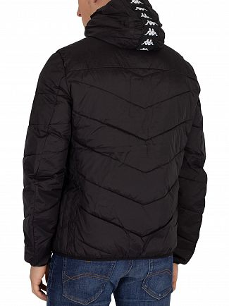 Kappa Black/White Amarit Puffa Jacket