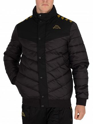 Kappa Black/Gold Aobi Jacket