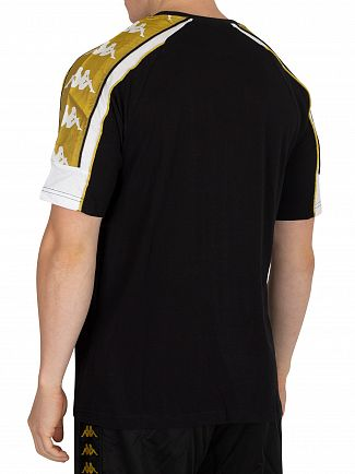 Kappa Black/White/Gold Arset T-Shirt