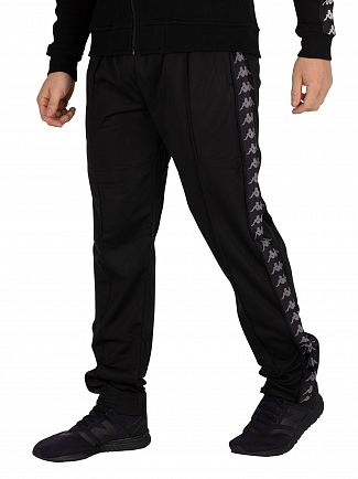 Kappa Black/Grey Astoria Slim Joggers