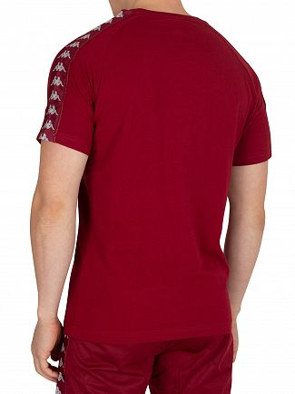 Kappa Red Bordeaux/Grey Coen Slim T-Shirt