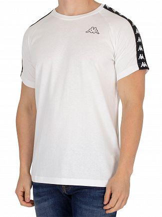 Kappa White/Black Coen Slim T-Shirt