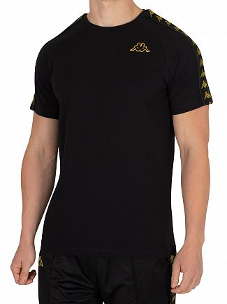 Kappa Black/Gold Coen Slim T-Shirt