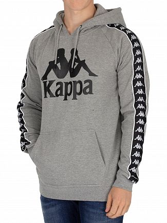 Kappa Grey/Black Hurtado Authentic Slim Pullover Hoodie