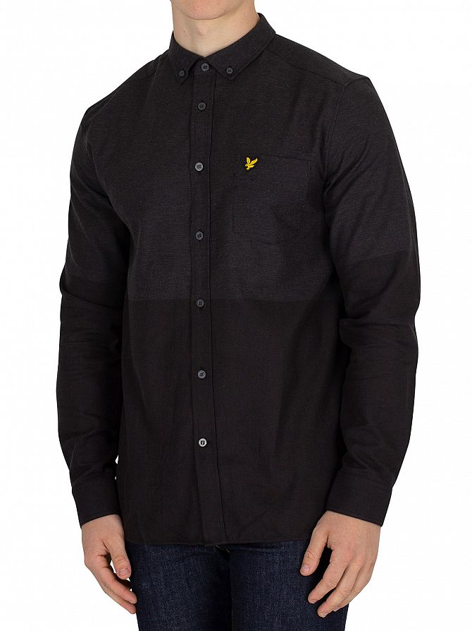 Lyle & Scott True Black Block Marl Shirt