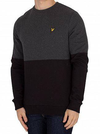 Lyle & Scott True Black Block Marl Sweatshirt