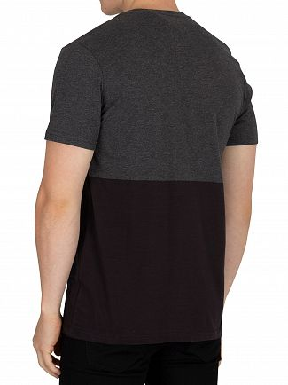 Lyle & Scott True Black Block Marl T-Shirt