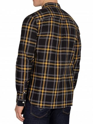Lyle & Scott True Black/Urban Grey Check Flannel Shirt