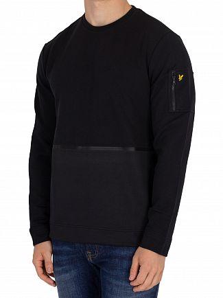 Lyle & Scott True Black Fabric Mix Sweatshirt