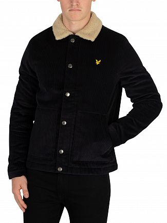 Lyle & Scott True Black Jumbo Cord Shearling Jacket