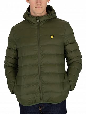 Lyle & Scott Woodland Green Lightweight Puffer Jacket