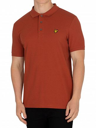 Lyle & Scott Brown Spice Logo Poloshirt