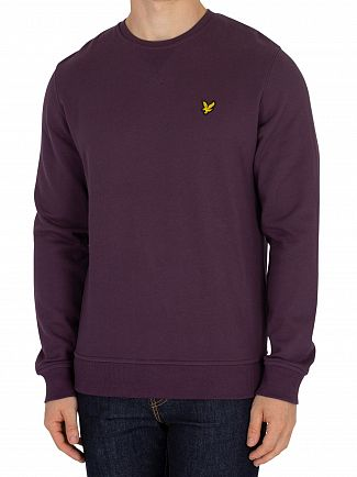 Lyle & Scott Deep Plum Logo Sweatshirt