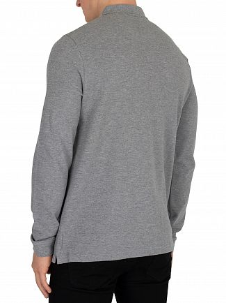 Lyle & Scott Mid Grey Marl Longsleeved Poloshirt