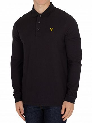 Lyle & Scott True Black Longsleeved Poloshirt