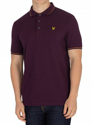 Lyle & Scott Deep Plum Tipped Poloshirt