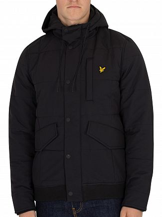 Lyle & Scott True Black Wadded Bomber Jacket